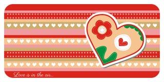 Поздравительная открытка дня валентинки иллюстрация штока