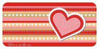 Поздравительная открытка дня валентинки бесплатная иллюстрация