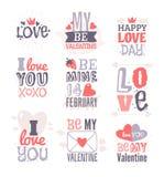 Поздравительная открытка дня валентинок нарисованная рукой Изолированная иллюстрация вектора Стоковая Фотография