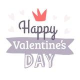 Поздравительная открытка дня валентинок нарисованная рукой Изолированная иллюстрация вектора Стоковая Фотография RF