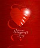 Поздравительная открытка дня ` s валентинки, плакат Стоковая Фотография