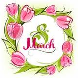 Поздравительная открытка 8-ое марта Стоковое Фото