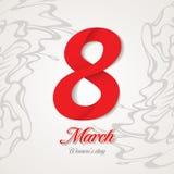 Поздравительная открытка 8-ое марта иллюстрация вектора