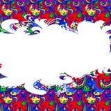 Поздравительная открытка. Орнамент цветка. Стоковая Фотография RF