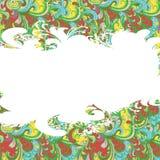 Поздравительная открытка. Орнамент цветка. Стоковые Изображения