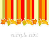 Поздравительная открытка осени Стоковая Фотография
