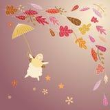 Поздравительная открытка осени Стоковые Фото