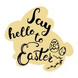 Поздравительная открытка пасхи - скажите здравствуйте! к пасхе Стоковое фото RF