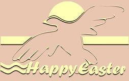 Поздравительная открытка пасхи Стоковая Фотография