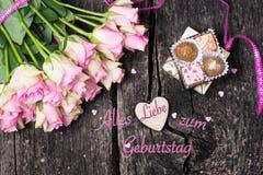Поздравительная открытка, поздравительая открытка ко дню рождения Стоковая Фотография RF