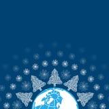 Поздравительная открытка праздника рождества Стоковые Изображения