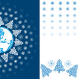 Поздравительная открытка праздника рождества Стоковые Изображения RF