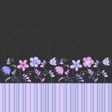 Карточка цветков иллюстрация вектора