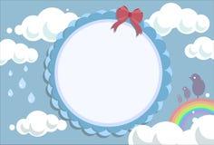 Поздравительная открытка - предпосылка неба иллюстрация штока
