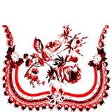 Поздравительная открытка приглашения или 11 шаблона с тканью шнурка Стоковые Фотографии RF