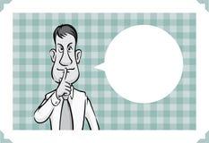 Поздравительная открытка при бизнесмен держа безмолвие бесплатная иллюстрация