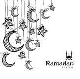 Поздравительная открытка Рамазан Kareem Стоковые Фотографии RF
