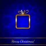 Поздравительная открытка рождества вектора с подарком иллюстрация вектора