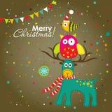 Поздравительная открытка рождества, вектор иллюстрация вектора