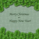 Поздравительная открытка рождества и Нового Года бесплатная иллюстрация