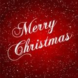Поздравительная открытка рождества. Иллюстрация вектора Стоковое Изображение