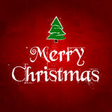 Поздравительная открытка рождества. Иллюстрация вектора Стоковые Изображения