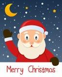 Поздравительная открытка рождества Санта Клауса Стоковое фото RF