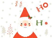 Поздравительная открытка рождества Санта Клауса Иллюстрация вектора