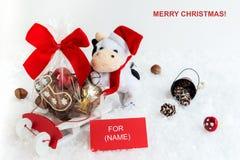 Поздравительная открытка рождества с текстовым полем Стоковое Фото