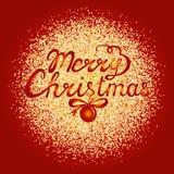 Поздравительная открытка рождества с sparkles золота Стоковые Фото