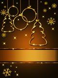 Поздравительная открытка рождества, элегантная Стоковые Фотографии RF