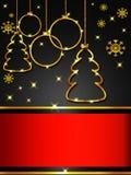 Поздравительная открытка рождества, элегантная Стоковое Изображение