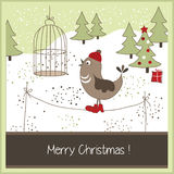 Поздравительная открытка рождества Стоковое Изображение RF