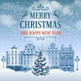 Поздравительная открытка рождества Стоковое фото RF