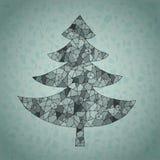 Поздравительная открытка рождественской елки паутины Runge бесплатная иллюстрация
