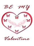 Поздравительная открытка сердца дня валентинок бесплатная иллюстрация