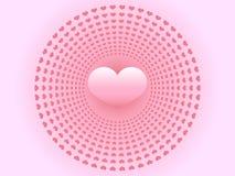 Поздравительная открытка сердца дня валентинок иллюстрация штока