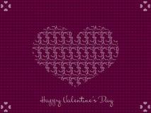 Поздравительная открытка сердца дня валентинок иллюстрация вектора