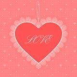 Поздравительная открытка сердца Стоковые Изображения RF