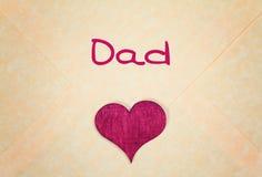 Поздравительная открытка - счастливый день отцов Стоковое фото RF