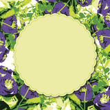 Поздравительная открытка с карточкой приглашения акварели роз Стоковые Фото