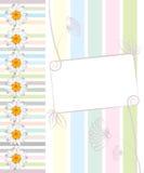 Поздравительная открытка с маргаритками и предпосылкой конспектов. Иллюстрация вектора