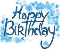Поздравительная открытка с днем рождения с цветками Стоковая Фотография