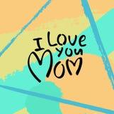 Поздравительная открытка с днем ` s матери Стоковое Изображение RF