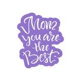 Поздравительная открытка с днем ` s матери Стоковые Изображения