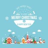 Поздравительная открытка с новым годом Стоковые Изображения