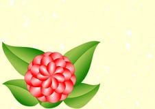 Поздравительная открытка с одним красным георгином Стоковые Фотографии RF