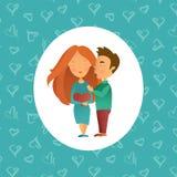 Поздравительная открытка с праздником дня ` s валентинки Стоковые Фото