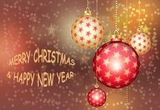 Поздравительная открытка с рождеством и Новый Год Стоковые Фото