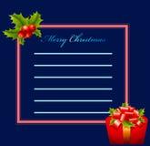 Поздравительная открытка - с Рождеством Христовым иллюстрация штока